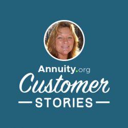 Banner for Annuity.org Customer Stories featuring Lisa Faulkner