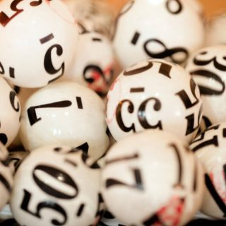 numbered lotto balls
