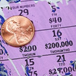 Lottery Scratch Off Game Ticket with Penny