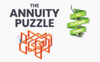 The Annuity Puzzle article logo with the MarCom award