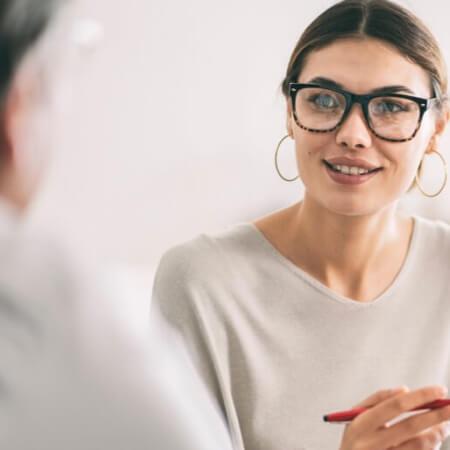 Financial advisor helping client