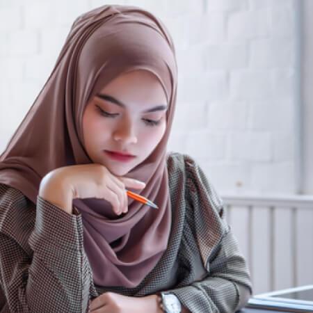 Woman planning financial goals