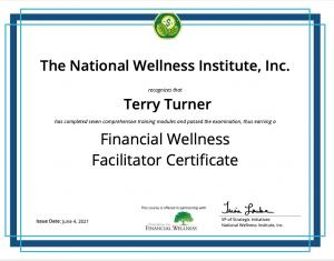 Financial Wellness Facilitator Certificate
