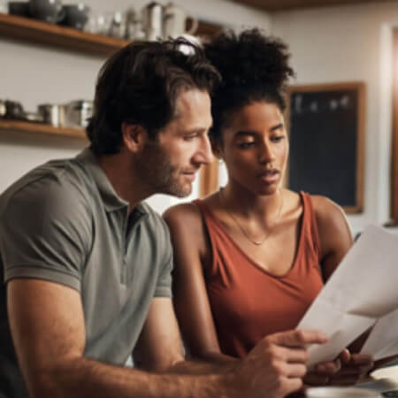a couple going over finances