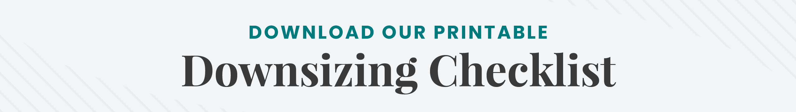 Download our Downsizing Checklist