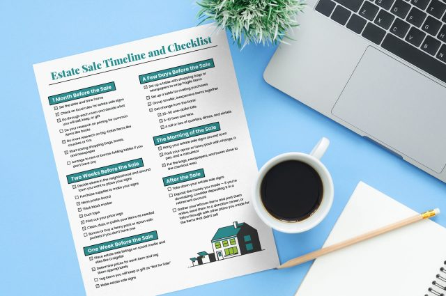 Estate sale timeline checklist