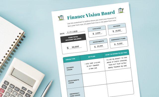Finance Vision Board