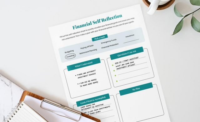 Financial Self Reflection Printable Mockup