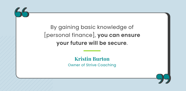 Retirement quote by Kim Burton, owner of Strive Coaching