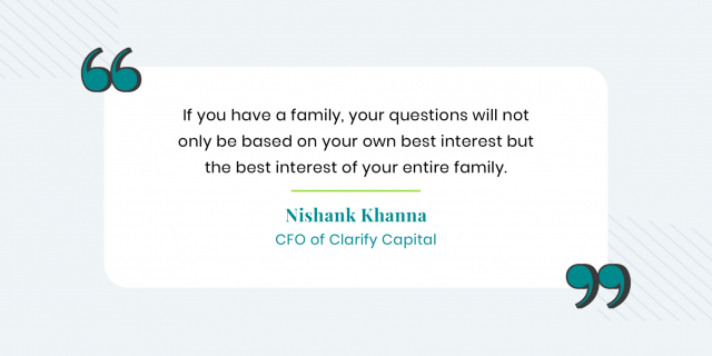 Nishank Khanna quote on looping in family