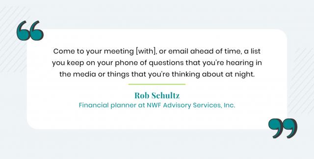 Rob Shultz quote on meeting preparedness