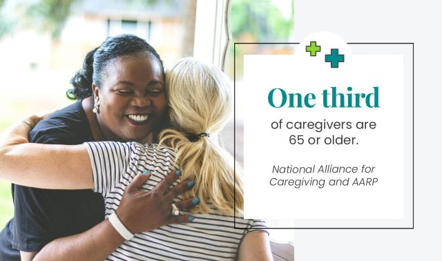 One third of caregivers are 65 are older image