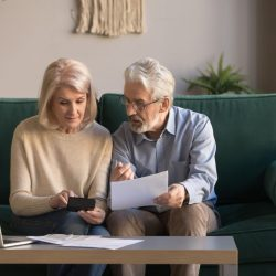 Older couple planning for retirement
